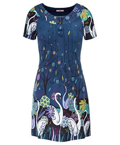 Joe Browns Our Swan Tunic, Blouse Femme Multicoloured (A-Blue Multi A)