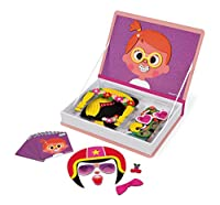 Janod Magneti'Book Crazy Faces juguete educativo, Niñas (J02717) de Juratoys