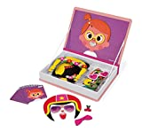Janod J02717 Girl'S Crazy Faces Magneti'Book