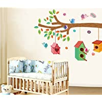 Bird Nests colgar en la pared de rama de árbol adhesivo para guardería infantil habitación