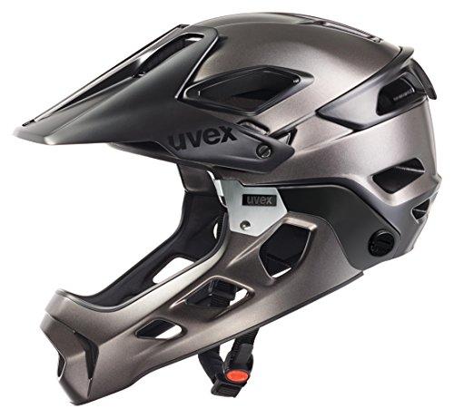 Uvex Jakkyl HDE - Casco de ciclismo unisex, color negro / plata oscuro mate, talla 50-60
