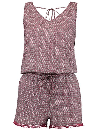 O'Neill Damen Strappy Playsuit Kleider & Jumpsuits, Pink AOP with Grün, M Pink Strappy Kleid