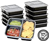 NALATI Meal Prep Container 3-Fächer Lebensmittelbehälter 10 Stücke Frischhaltedosen Set Aufbewahrungsbox BPA Frei Kunststoffbehälter Lebensmittelbox mit Deckel Lunchbox mit Fächern für Weight (Mode 2)