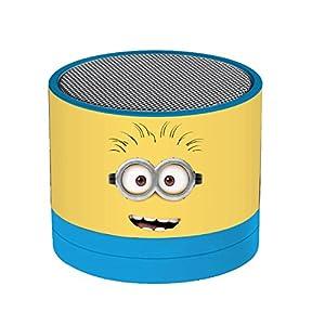 Despicable Me Me-BT010DES GRU, Mi Villano Favorito Los Minions-Mini Altavoz Bluetooth Inalámbrico, Entrada AUX-IN, batería Recargable (Lexibook BT010DES), Color Azul