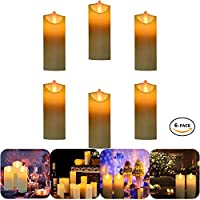 6 Packs Candles Lights, Flameless Vivid LED Votive Candle Flickering Light for Party Home Festival Decoration Honeymoon Anniversary Gathering (Battery Not Included)