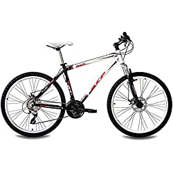 "26"" KCP MOUNTAIN BIKE PULSE ALLOY 24 speed SHIMANO UNISEX white black - (26 inch)"