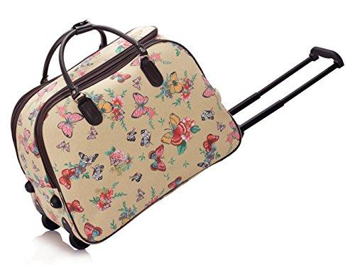 LeahWard® Große Größe Reisetasche Gepäck Reisetasche mit Rad Kabine Hand Taschengage Gym UrlaubWagen Koffer