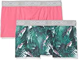 Hom Exotic #2 Boxer Briefs HO1 Pack x 2 Multicolore (Imprimé Perroquets + Rose),...