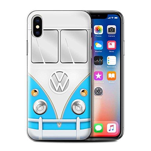 Stuff4 Hülle / Case für Apple iPhone 7 / Rot Muster / VW Campingbus Kollektion Blau