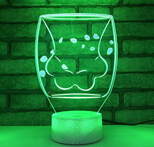 Veilleuse 3D - Chat Griffe Coupe 3D Veilleuse Créative Lampe de table Cadeau Lampe Acrylique