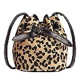 Fymia Heiße Plüsch Leopard Print Umhängetasche Umhängetasche für Frauen