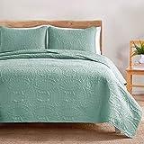 VEEYOO Set Copriletto Leggero 3 Pezzi Trapunta Comforter Set
