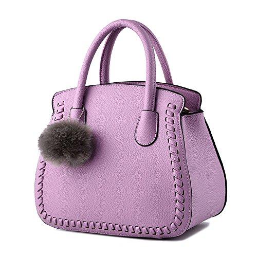 Viola scuro Borse a mano Donna Fashion Borsetta per Ragazze Lavanda Borsa
