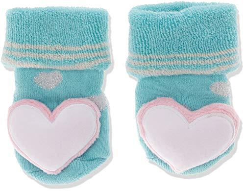 Sterntaler Sterntaler Mädchen Socken Baby-Rasselsöckchen, Blau (Eisblau 338), One Size (15/16)
