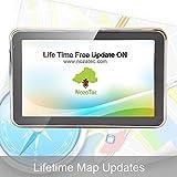 Noza Tec Car GPS Sat Nav / GPS Navigation 5 Inch Bluetooth with Lifetime UK and EU Map Updates 8GB