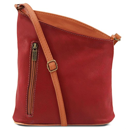 Tuscany Leather TL Bag Mini Unisex-Schultertasche aus weichem Leder Rot Rot