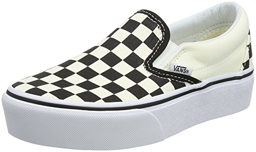 Vans Classic Slip-on Platform, Baskets Enfiler Femme, Noir (Black and White Checker/White Bww), 37 EU