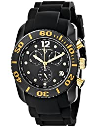 SWISS LEGEND 10127-01-GA - Reloj para hombres, correa de goma color negro