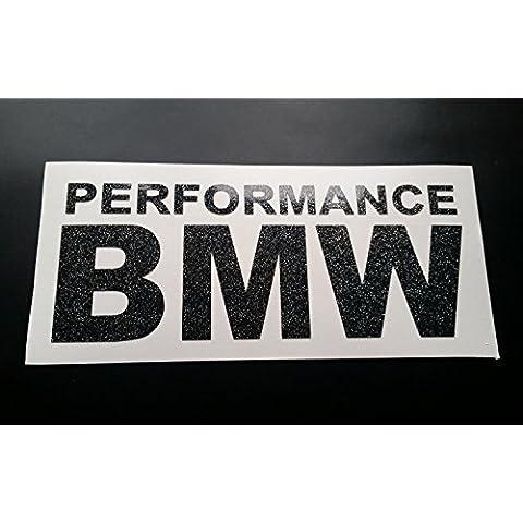 Performance BMW Glitter Metal flake Vinyl Car Sticker Decal Graphic Silver Glitter 100mm x (1037 Vinyl)