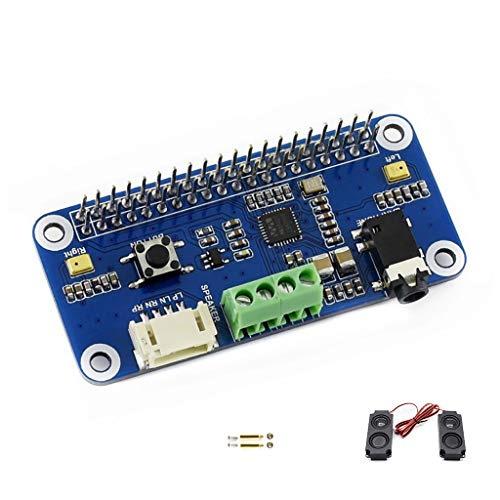 Waveshare WM8960 Hi-FI Sound Card Hat for Raspberry Pi Audio Module Support  Stereo CODEC Play/Record Can Directly Drive Speakers to Play Music I2C I2S
