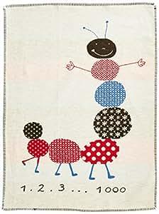 David Fussenegger Couverture Pour Bébé Et Enfant Lena Chenille Écru 100x75cm Certifiée Gots (Coton Bio) 6550/60