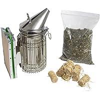 imkado Premium Juego de apicultor Smoker Acero Inoxidable con humo plástico y cigarrillos, ideal para hobby Apicultor