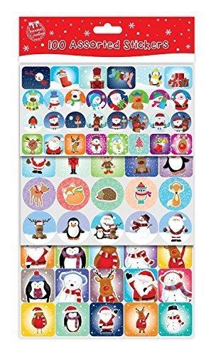 100 Assortito Adesivi Di Natale