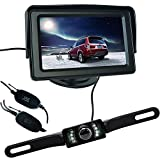 Buyee Funk Auto Rückfahrkamera 120 Nachtsicht + 4.3 Zoll Bildschirm Farb-Monitor Kfz