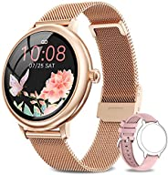 NAIXUES Smartwatch Donna, Orologio Fitness IP67 Impermeabile Smart Watch da Donna Notifiche Messaggi Contapass
