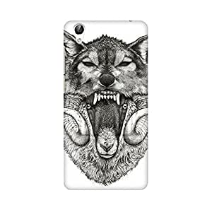 Mobicture Screaming Wolf Premium Printed High Quality Polycarbonate Hard Back Case Cover for Vivo Y51L With Edge to Edge Printing