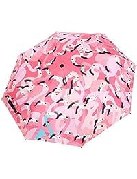 Fei Uno Paraguas Plegable – Oxford Street (champán Oro, 98 cm x 98 cm