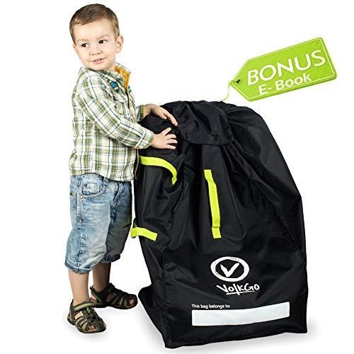 VolkGo strapazierfähige Autositz-Reisetasche mit E-Book - Idealer Tor Check Bag für Flugreisen & Geld sparen - für sichere und sichere Autositz - passend für Autositze, Babytragetaschen & Booster -