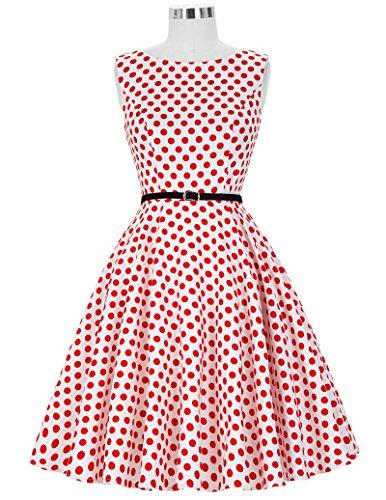 50s Rockabilly Kleid Festliches Kleid Partykleider Cocktailkleider GD6086 New CL6086-44