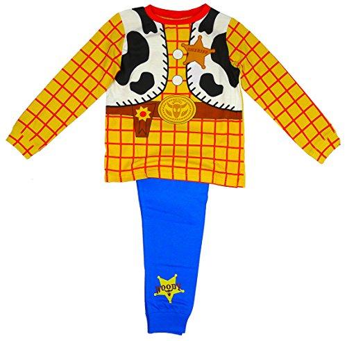 Woody Kostüm Story Toy (Jungen Toy Story WOODY Cowboy Kostüm Neuheit Schlafanzüge 1.5-2,2-3,3-4,Eu 104-110 - Gelb,)