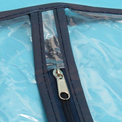 Hangerworld 3 Wasserabweisende Kleiderhüllen für Brautkleider 183cm Transparent Mit buntem Saum