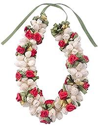 Majik Designer Artificial Flowers Gajra, Hair Accessories For Women And Girls, 25 Grams, Pack of 1 (Multi Color)