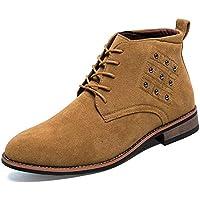 Lingqiqi Bota de Hombre Classic Soft High-Top Business Oxford antioxidante Remache Suela de Madera Zapatos Formales Invierno (Color : Marrón, tamaño : 39 EU)
