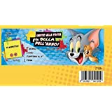 Bloc Carnet de 20invitaciones cumpleaños Tom y Jerry Alla Festa Piu Bella Del Mundo