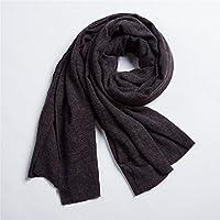 Hombres de Invierno bufanda bufanda bufanda de lino de algodón puro retro Mens Winter Wind China bufanda,Black Ash