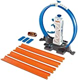 Hot Wheels- Pista con Il Lanciatore Loop per Macchinine, Include i Connettori e Un Veicolo, DMH51