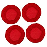 B Blesiya 2/4er-Set Rund Stretch Stuhlbezug Stuhlhusse Bezüge Husse für Stuhl Hocker Barhocker - 4 Stück rot