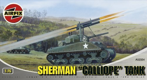 Airfix A02334 Sherman 'Calliope' Tank 1:76 Scale Series 2 Plastic Model Kit by Airfix