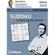 Sudoku schwierig bis extrem 2018 Tagesabreißkalender