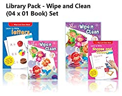 AADARSH - Wipe and Clean (Library Pack) (Set of 04 Books) Books Bundle