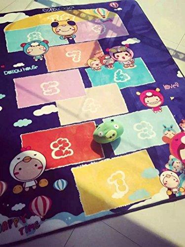 GRENSS Große Größe 150*195 Kinder Teppich mit Hopse Spiel Cartoon Teppich Baby krabbeln Mat Kinder Best Loved Teppich und Teppichboden Mat (Teppich 1702)