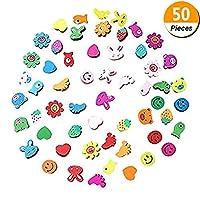 Welecom 50 Pcs Wooden Cartoon Animal Pattern Push Pins Wooden Head Thumb Tacks Drawing Pin for School Home Office