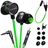 Plextone Wired Noise Cancelling Gaming Headphones with Adjustable Mic (Green)