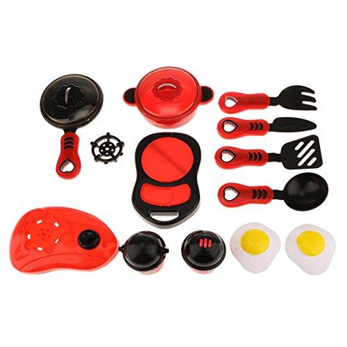 Generic Küche Kochgeschirr Rolle Spielen Spielzeug-Kit Vorgeben Mini-Küche Kochgeschirr