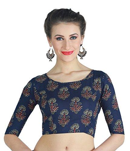 Studio Shringaar Cotton Blouse (S192640_Blue_40)