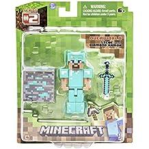 Minecraft - Blíster Steve diamond armor con accesorios (Giochi Preziosi 16404)